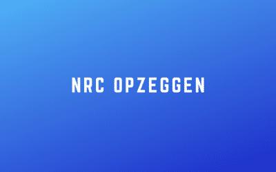 NRC opzeggen