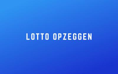Lotto opzeggen