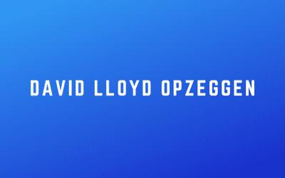 David Lloyd opzeggen