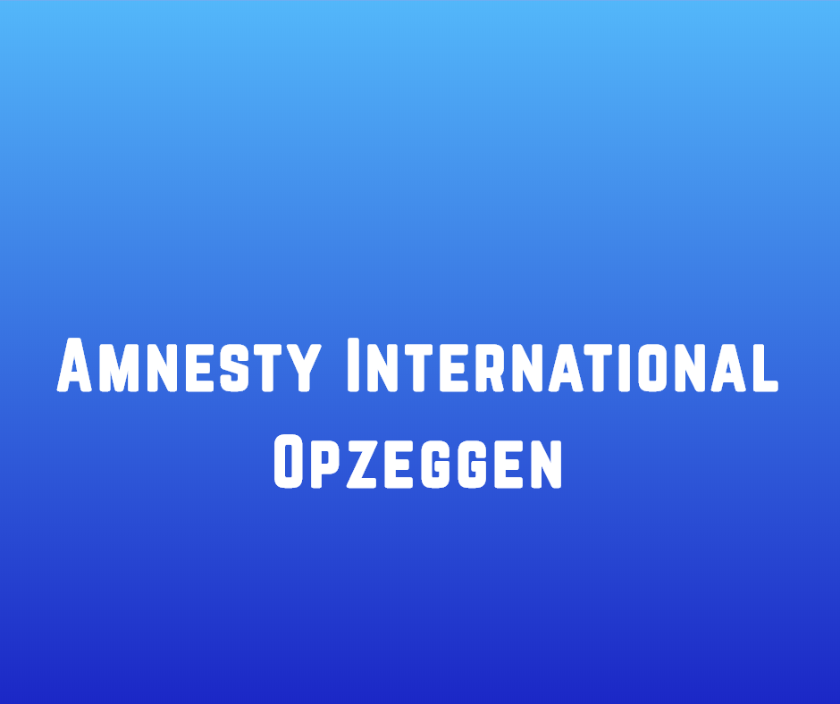 Amnesty International Opzeggen