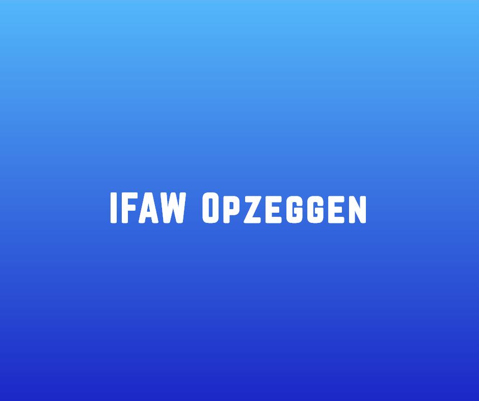 IFAW Opzeggen
