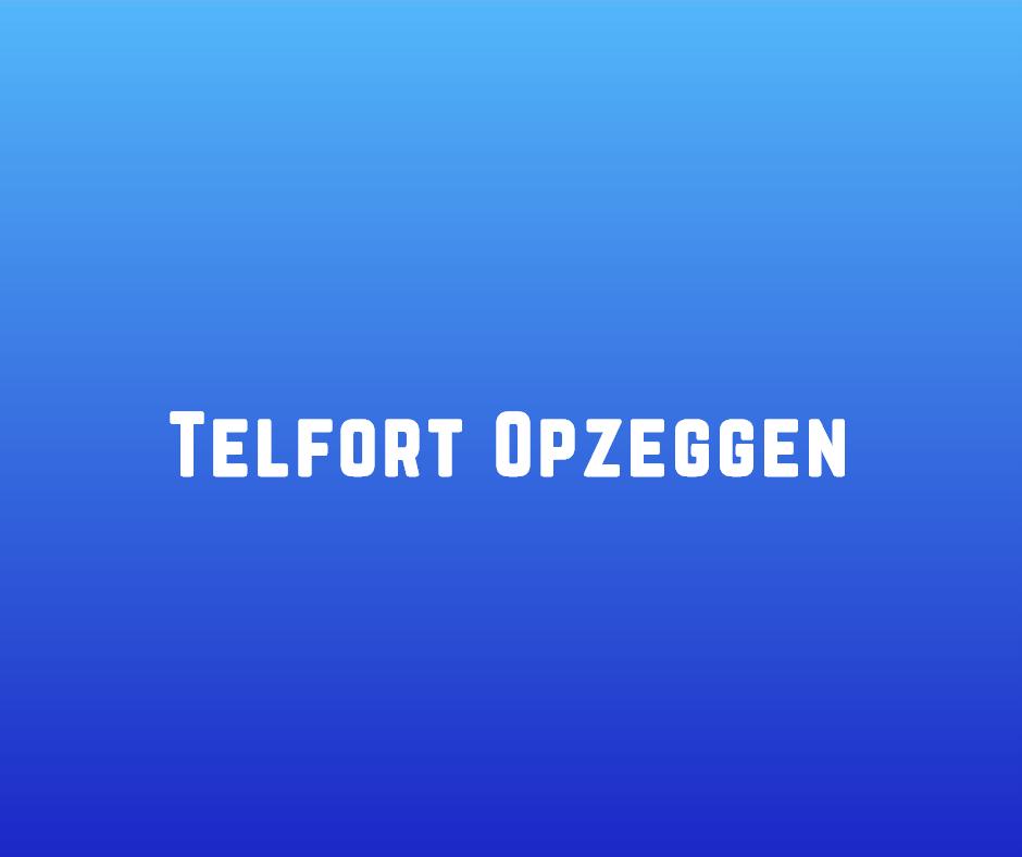 Telfort Opzeggen