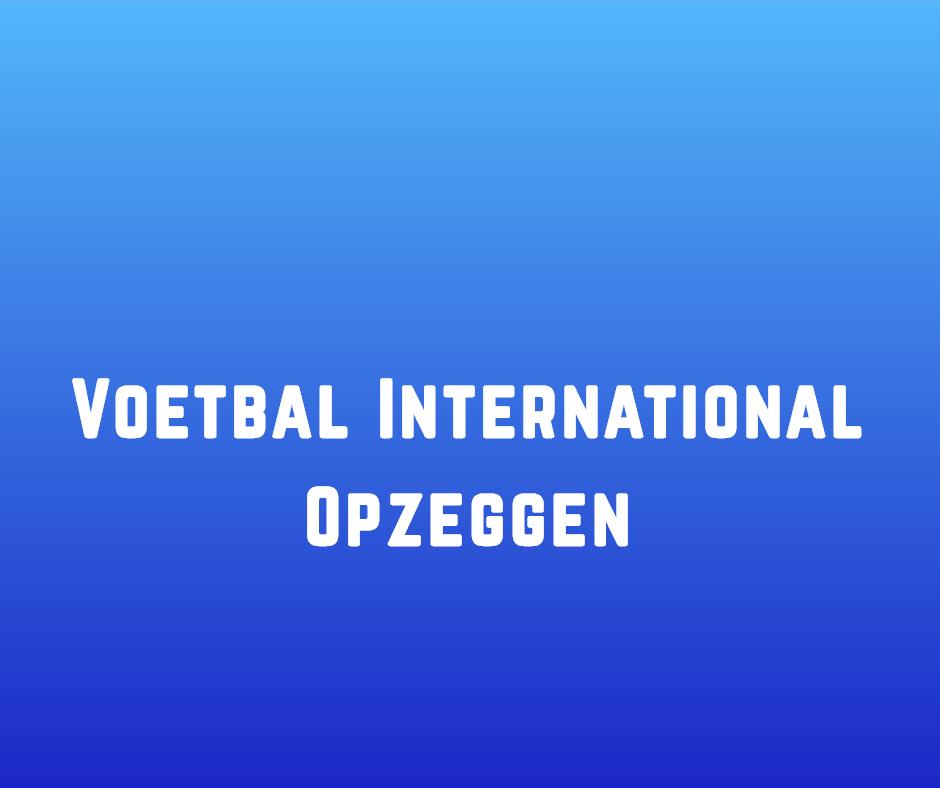 Voetbal International opzeggen