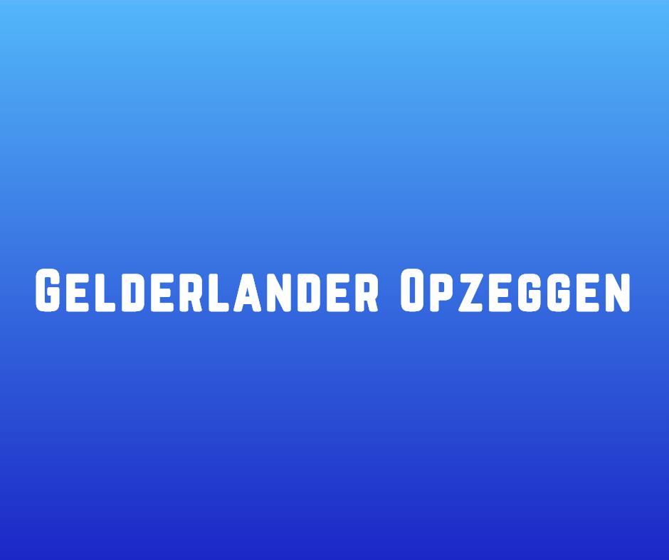 Gelderlander opzeggen
