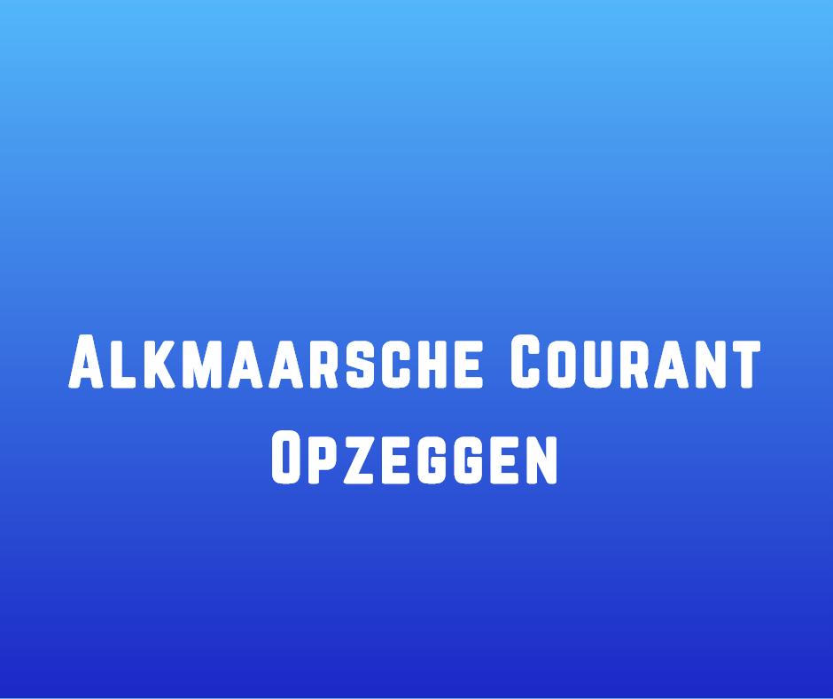Alkmaarsche Courant Opzeggen