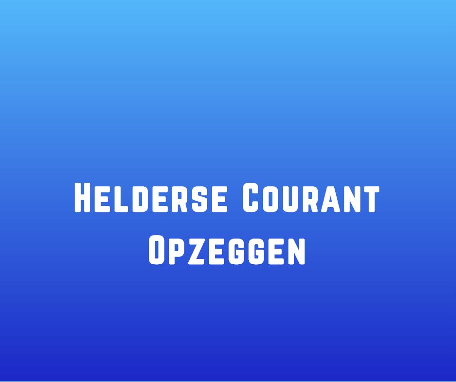 Helderse Courant Opzeggen