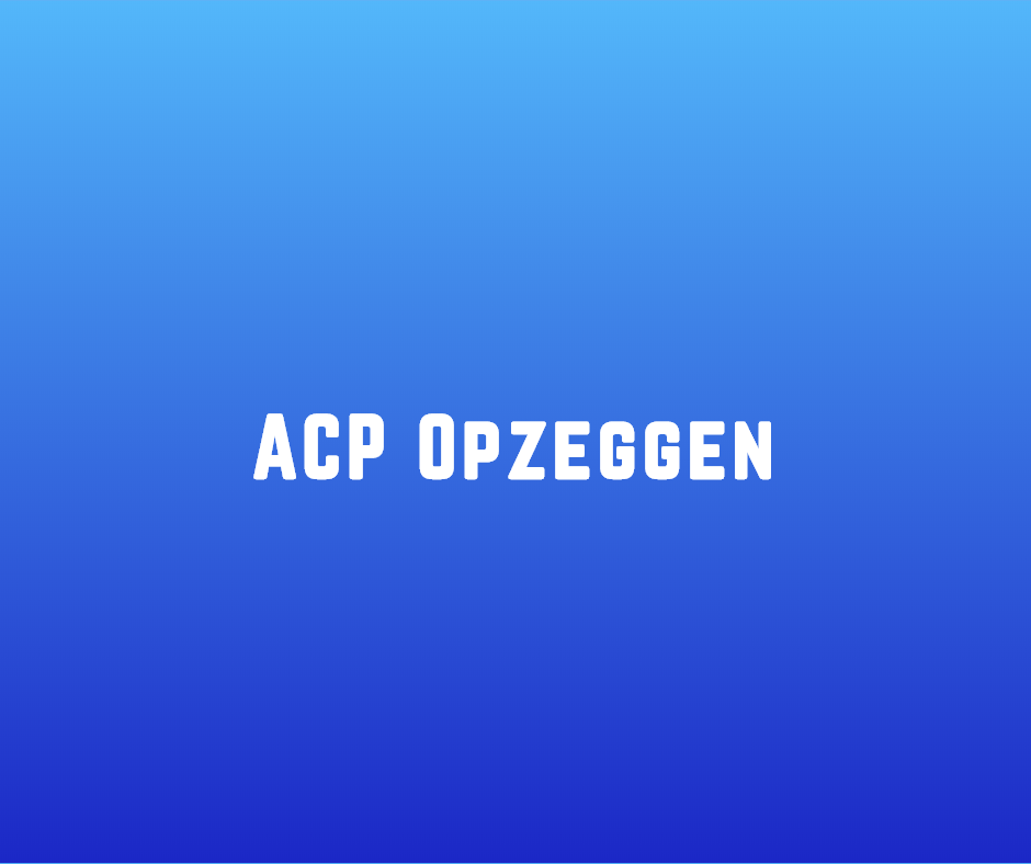 ACP Opzeggen