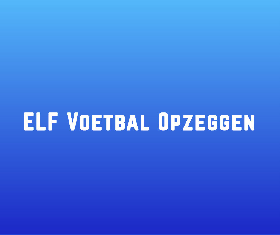 ELF Voetbal opzeggen