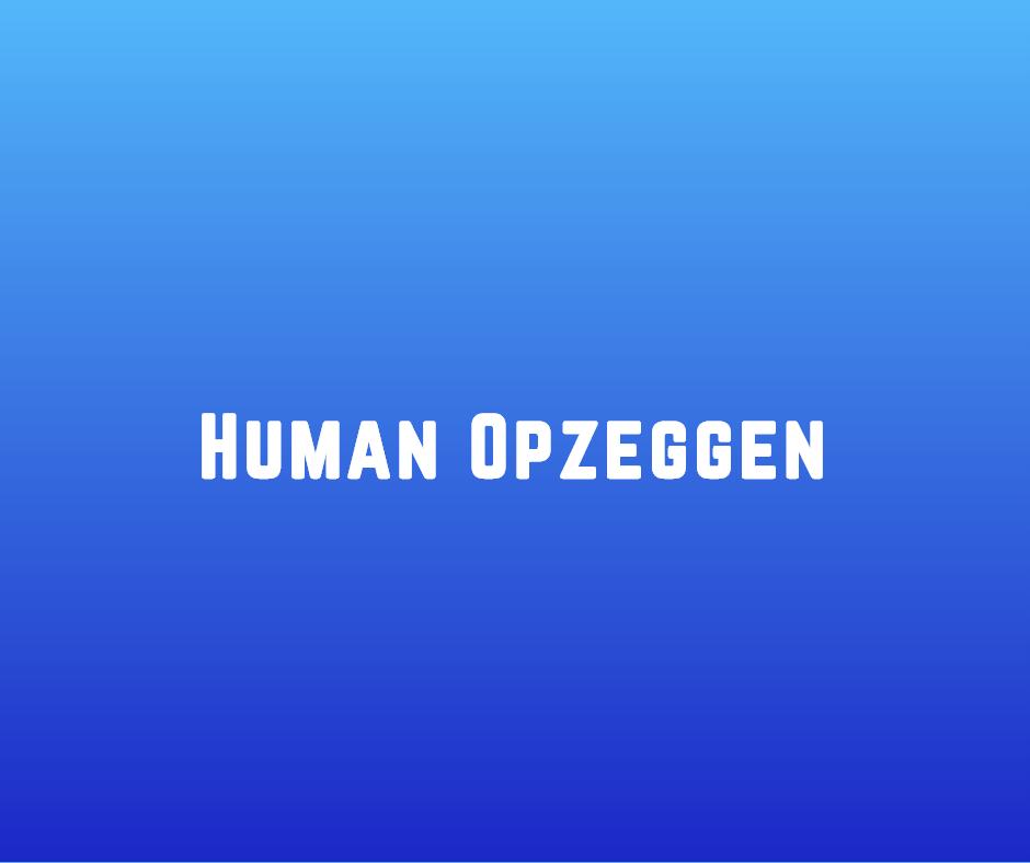 Human opzeggen