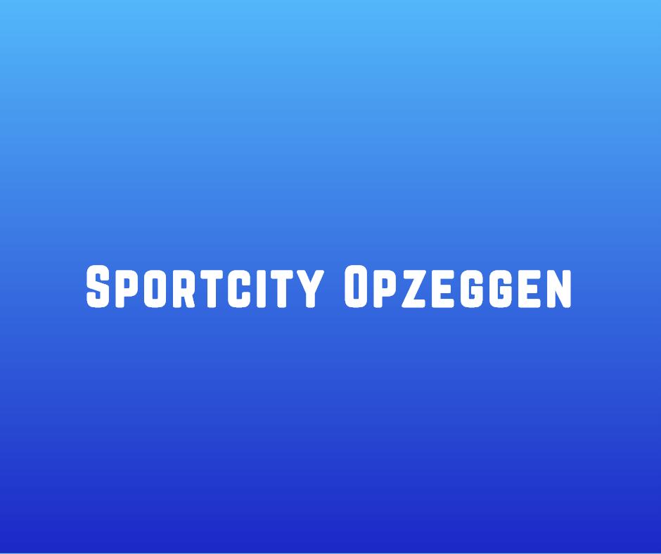 Sportcity Opzeggen